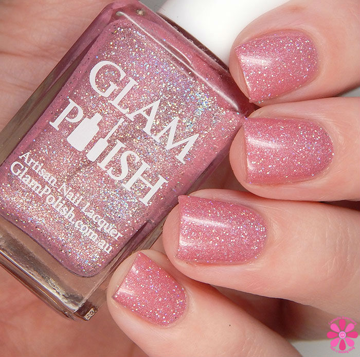 Glam Polish Alphabet City Collection The More You Ruv Someone Swatch