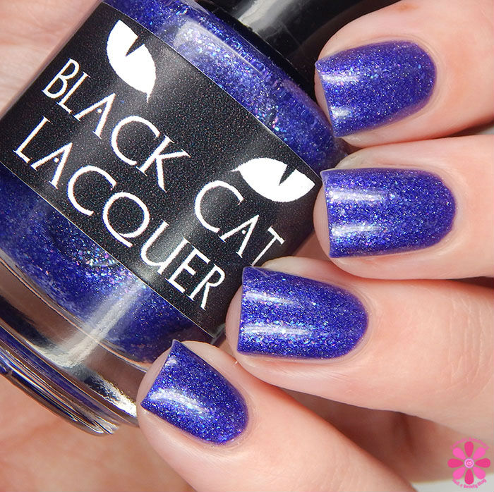 A Box Indied February 2016 Diamonds are Worthless Love a Holo Black Cat Lacquer I Want Your To Want Me Swatch