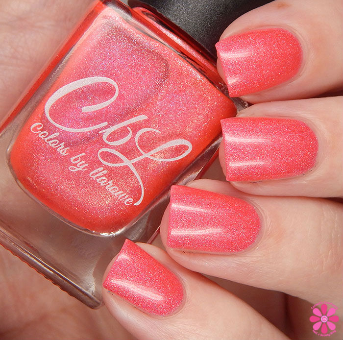 A Box Indied February 2016 Diamonds are Worthless Love a Holo Color By Llarowe Coraldly Yours Swatch