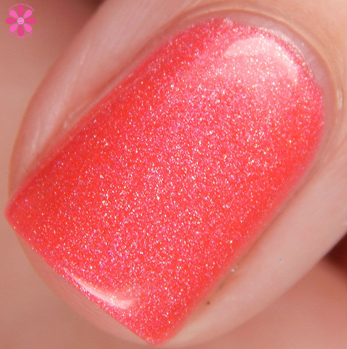 A Box Indied February 2016 Diamonds are Worthless Love a Holo Color By Llarowe Coraldly Yours Swatch Macro