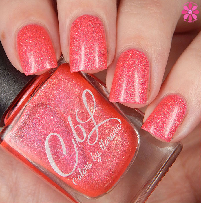 A Box Indied February 2016 Diamonds are Worthless Love a Holo Color By Llarowe Coraldly Yours Swatch Up