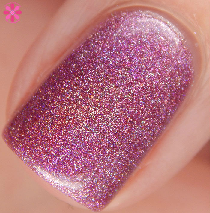 A Box Indied February 2016 Diamonds are Worthless Love a Holo Crowstoes Keep It Simple Cupid Swatch Macro