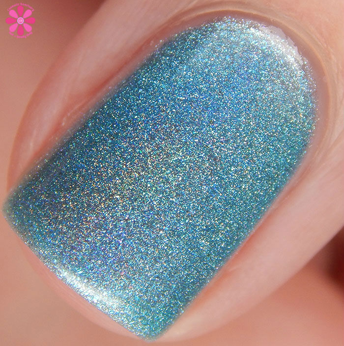 A Box Indied February 2016 Diamonds are Worthless Love a Holo Girly Bits A Real Gem Swatch Macro