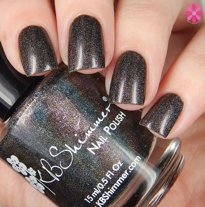 A Box Indied February 2016 Diamonds are Worthless Love a Holo Kbshimmer I Want Your Texts Swatch Up