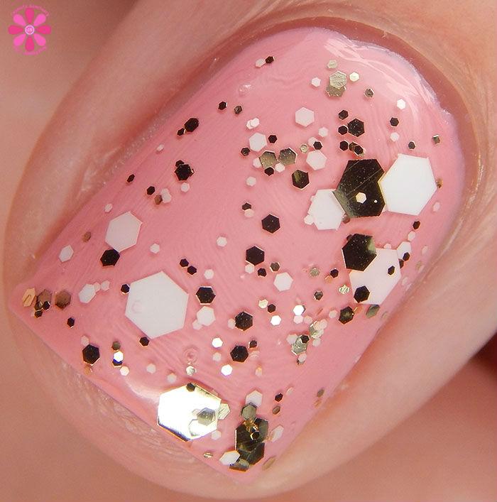China Glaze Glitter Me This Over Pink Or Swim Macro