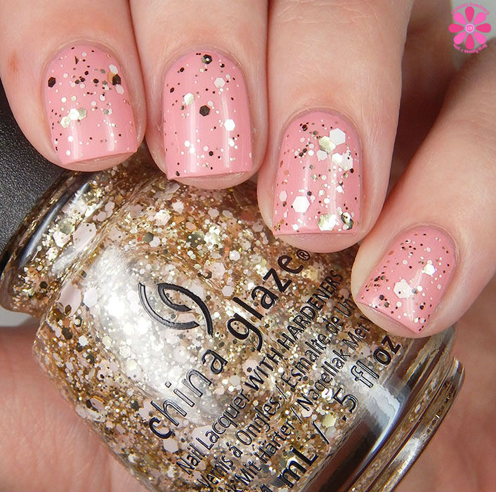 China Glaze Glitter Me This Over Pink Or Swim Up