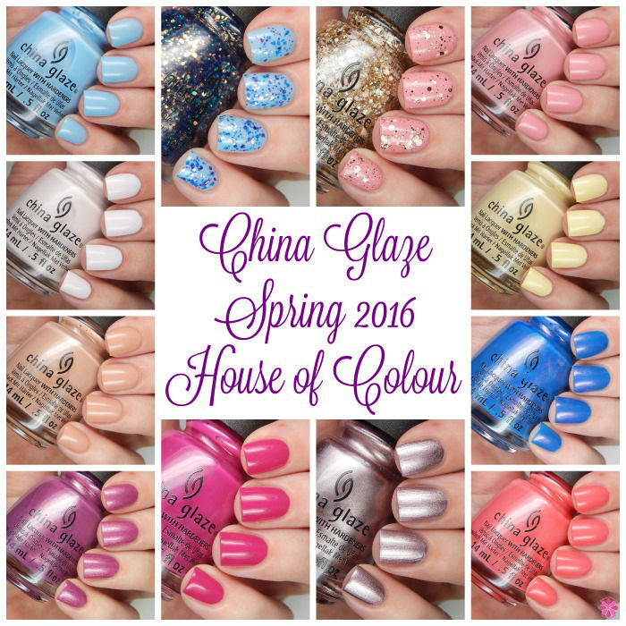 China Glaze Spring 2016 Title Collage