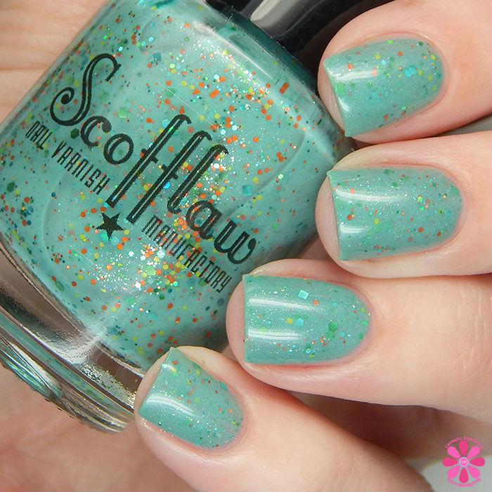 Scofflaw Nail Varnish Winter 2016 Collection Creature from the Glitter Lagoon Swatch