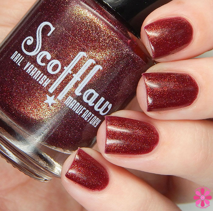 Scofflaw Nail Varnish Winter 2016 Collection Heavy Metal Sewing Circle Swatch