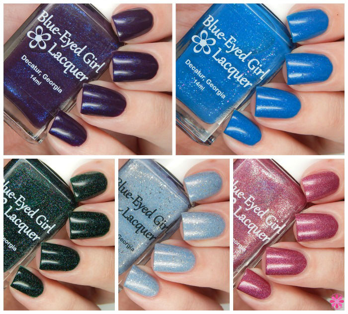 Blue-Eyed Girl Lacquer Innocence in the Moment Collection & Snowbunny Siren