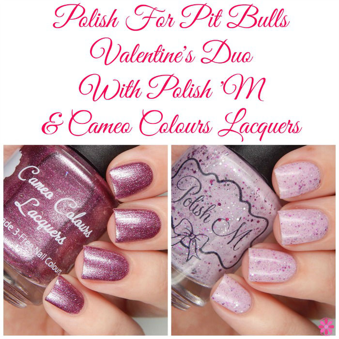 Polish For Pit Bulls Valentine's Duo Collage