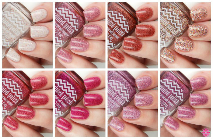 Painted POlish Valentine's Day Collage