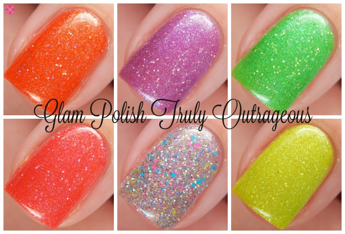 Glam POlish Truly Outrageous Macro Collage