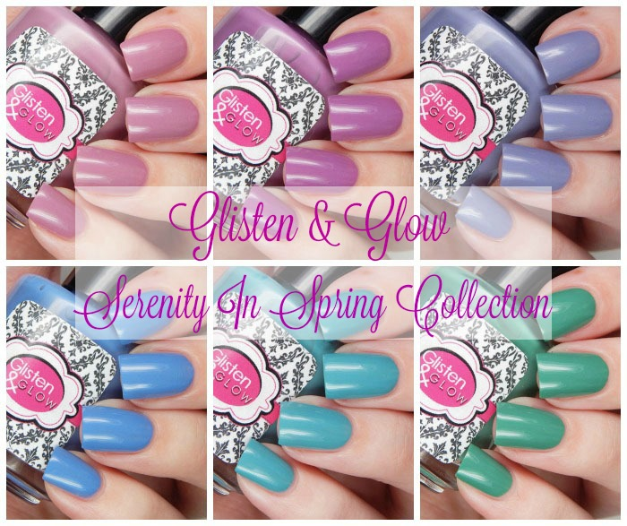 Glisten & Glow Serenity in Spring Collection Collage Cover