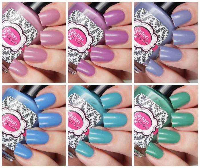 Glisten & Glow Serenity in Spring Collection Collage