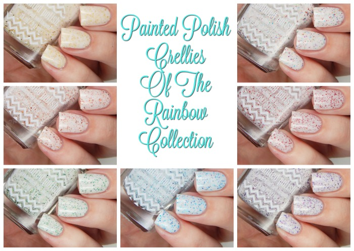Painted Polish Crellies Of The Rainbow Collection Cover Collage