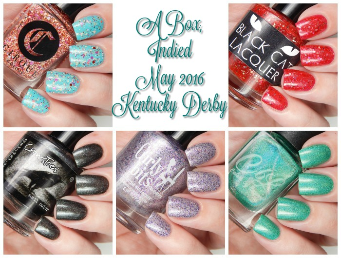 A Box, Indied May 2016 Kentucky Derby Swatches and Review