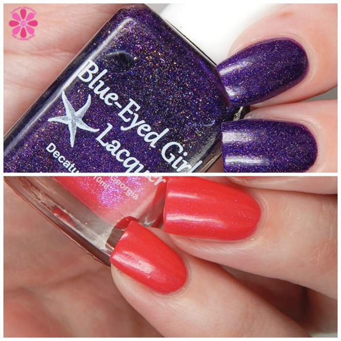 Blue Eyed Girl Lacquer Lilly Of My Dreams & Sirens Vamp Chic Spring Split Image