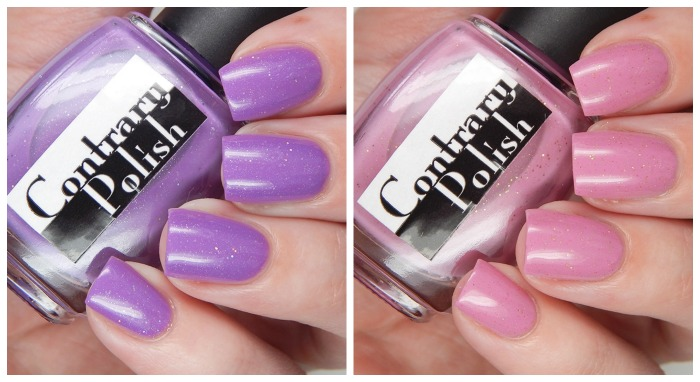 Contrary Polish Exclusive Color4Nails Duo   How Prim Is Your Rose & I Kinda Lilac You