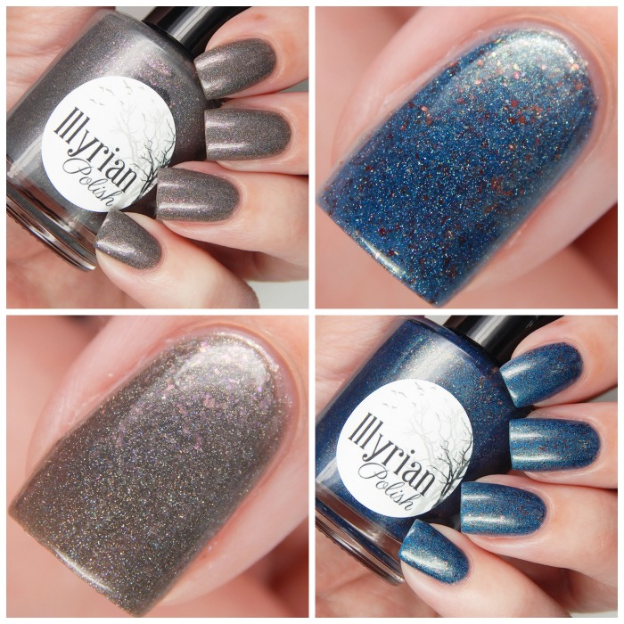 Illyrian Polish Exclusive Color4Nails Duo   Dove Jam & Peacock Sauce Overview