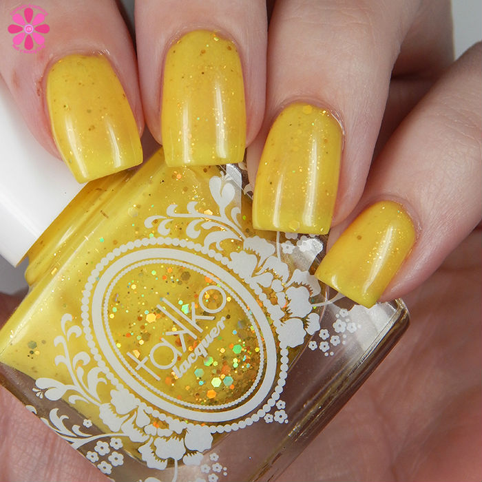 A Box Indied June 2016 Takko Lacquer The Yellow Ribbon Down