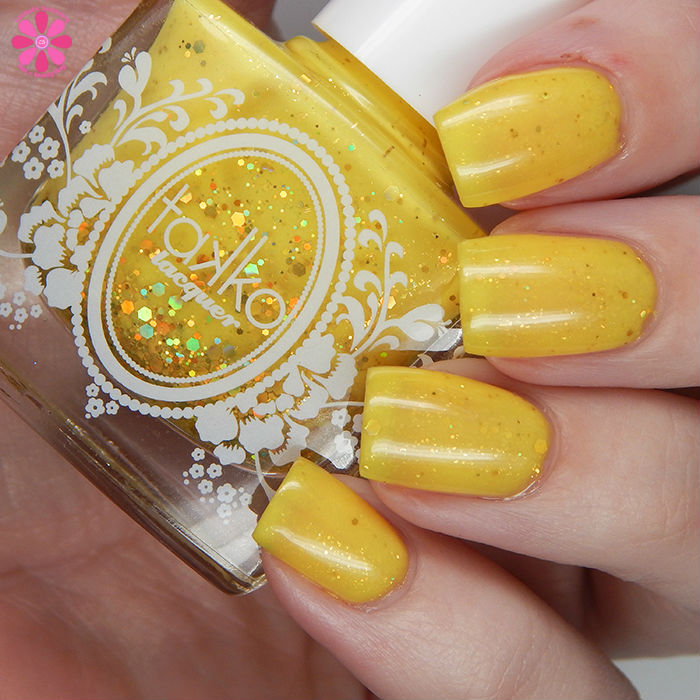 A Box Indied June 2016 Takko Lacquer The Yellow Ribbon