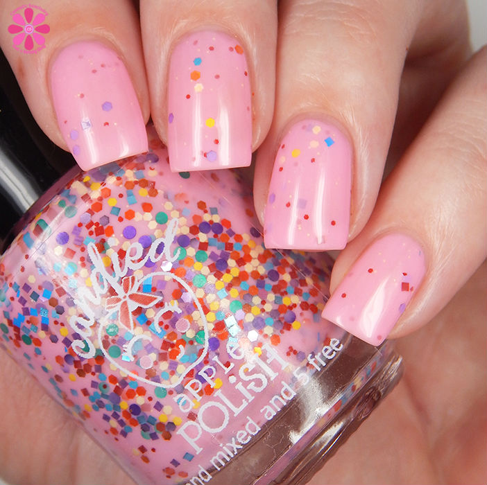 Candied Apple Polish Tickled Pink Down