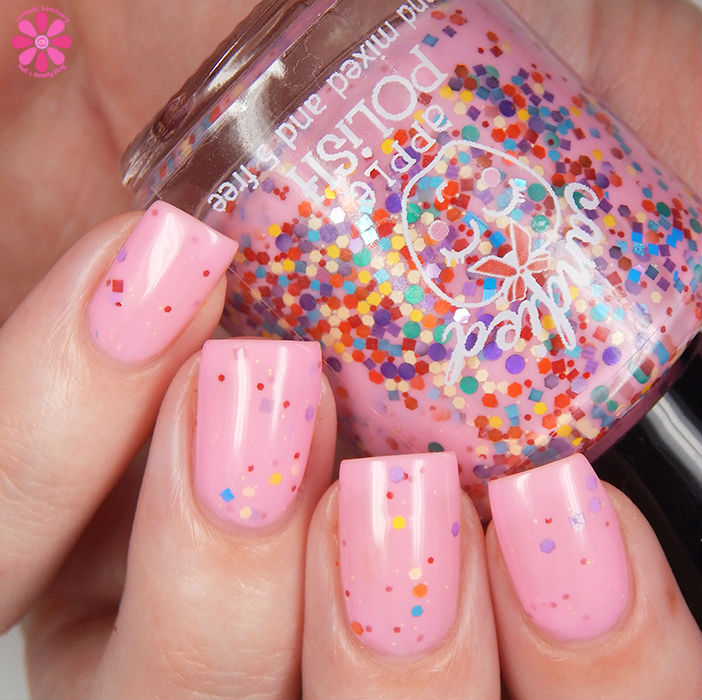 Candied Apple Polish Tickled Pink Up