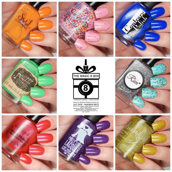 The Magic 8 Box July 2016 Rainbow Brite Box