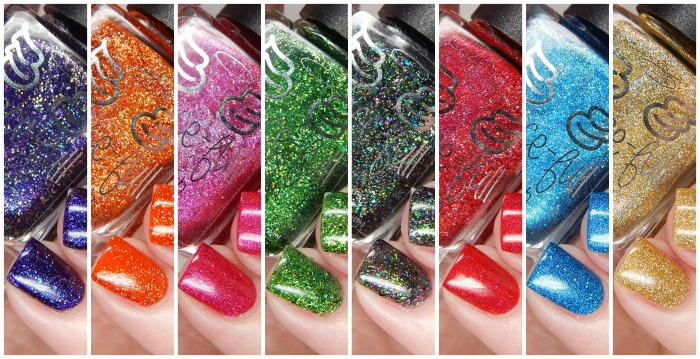 Grace-full Nail Polish Rainbow Sparklers Collection