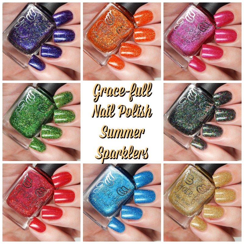 Gracefull Nail POlish SUmmer Sparklers Collection Main