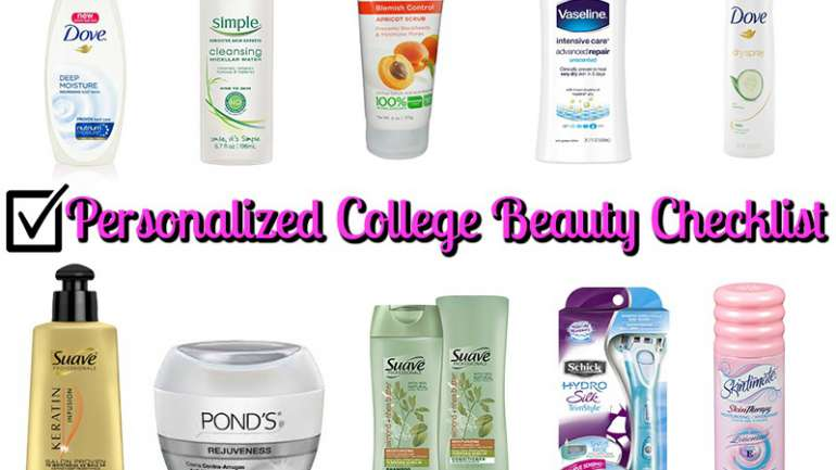 Personalized College Beauty Checklist