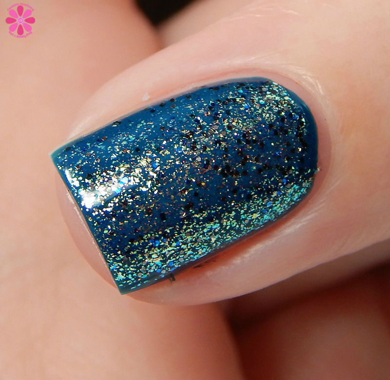 China GLaze Fall 2016 Holo At Ya Girl over Jagged LIttle Teal