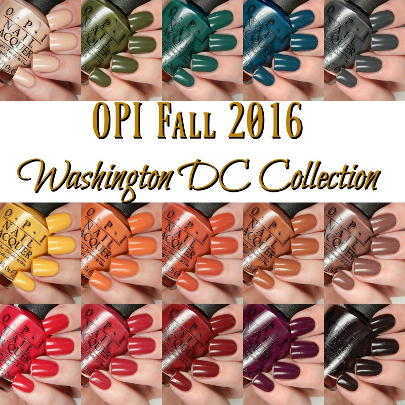 OPI Fall 2016 Washington DC Collection Main