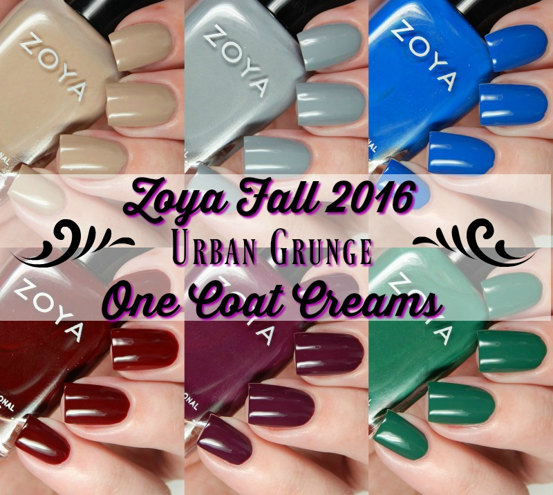 Zoya Fall 2016 Urban Grunge One Coat Creams Main