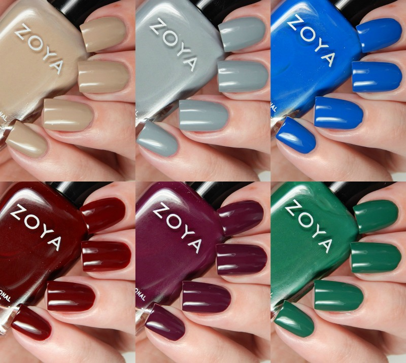 Zoya Fall 2016 Urban Grunge One Coat Creams Collection