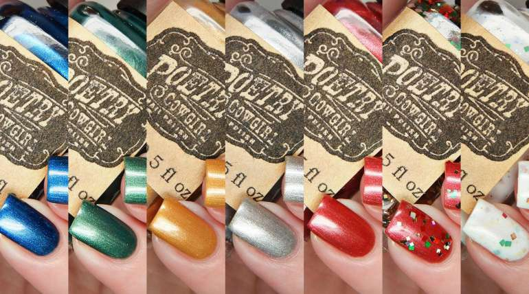 Poetry Cowgirl Nail Polish Victorian Christmas Collection