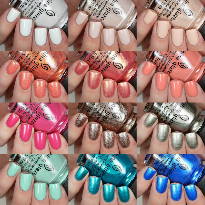 China Glaze Spring 2017 Spring Fling Collection Swatches and Review