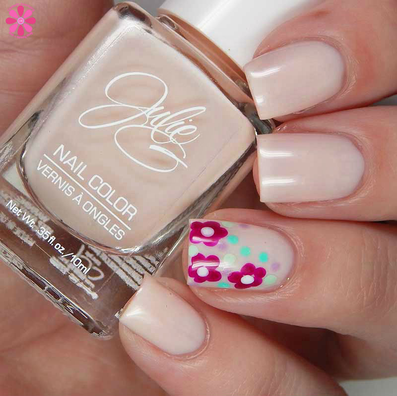 Easy Spring Flower Dotticure With Julie G Tutorial and Swatches