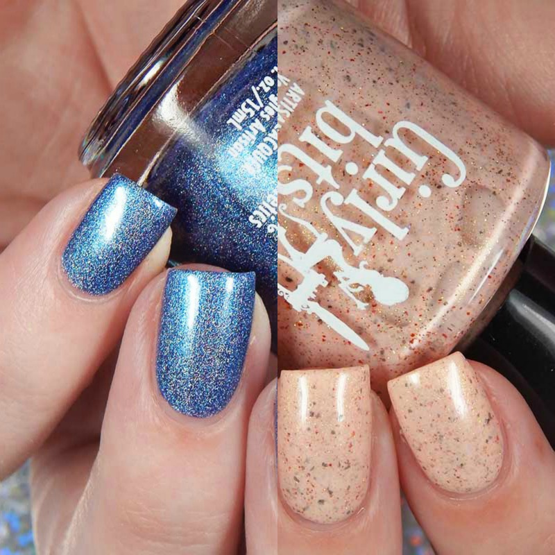 Girly Bits August 2017 Color Of The Month Duo Swatches and Review