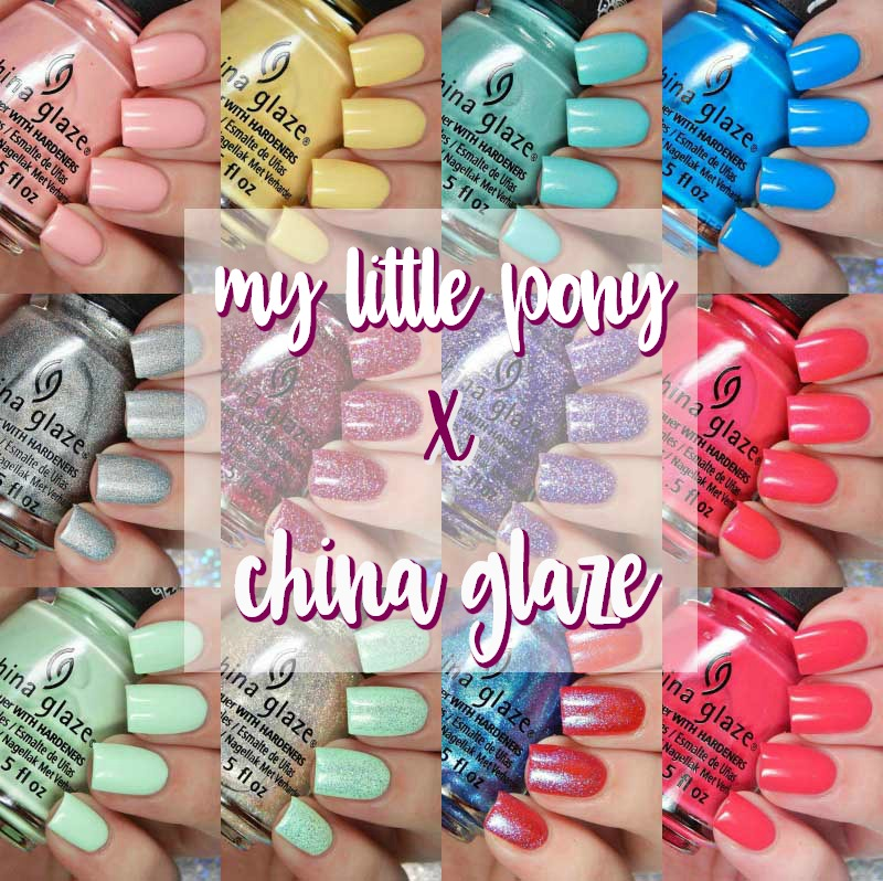 The My Little Pony X China Glaze Collaboration Collection Is A 12 Piece With Special Brush Caps On Them That Have Logo As Well