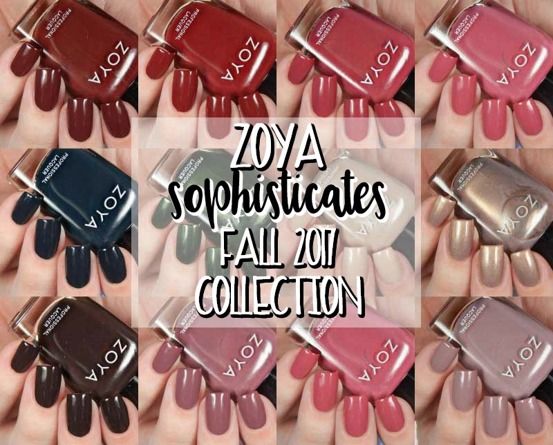 Zoya fall 2017 sophisticates collection swatches and review for some reason i always feel like fall and winter collections are generally zoyas stronger collections i do love their spring and summer reheart Gallery