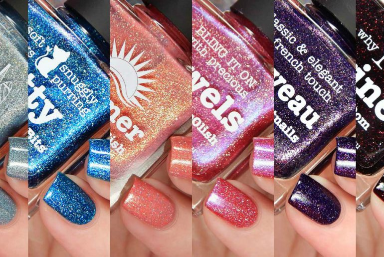 Picture Polish Jewels, Kitty, London, Nouveau, Summer & Wine Swatches