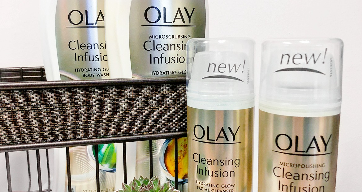 Glow Up With Olay Cleansing Infusion