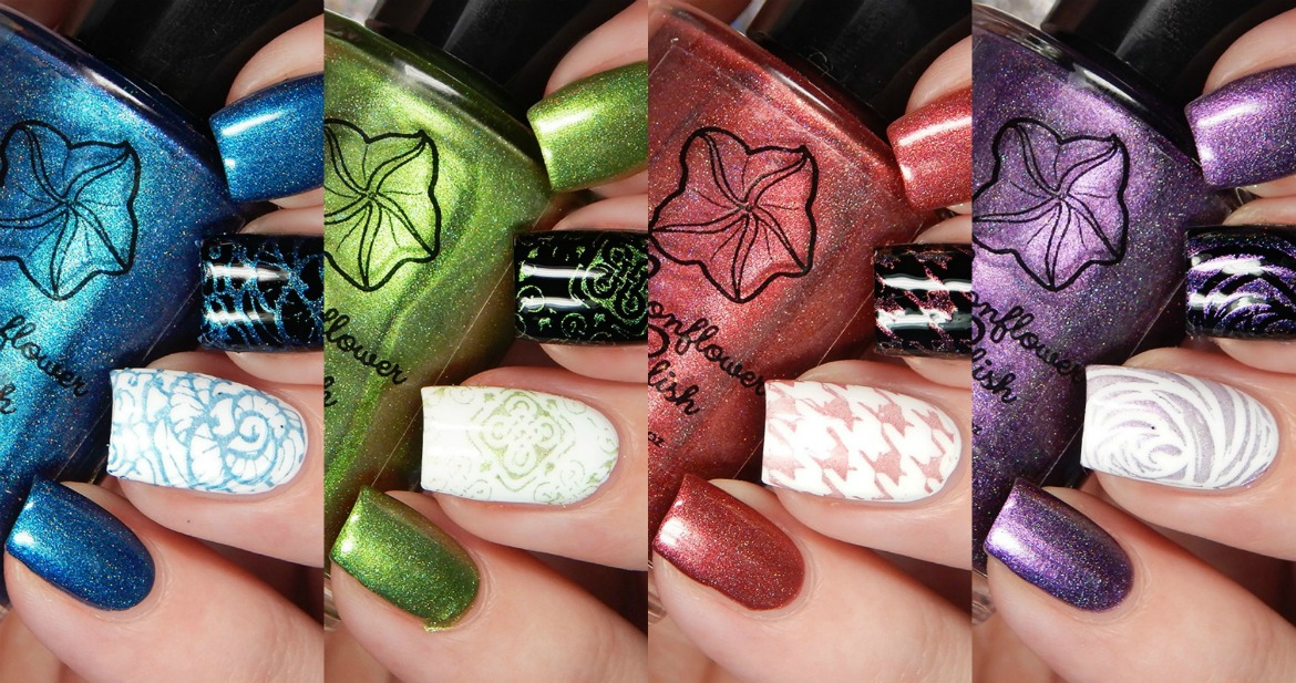 Moonflower Polish Iridescent Holos for Spring 2018 Swatches and Review