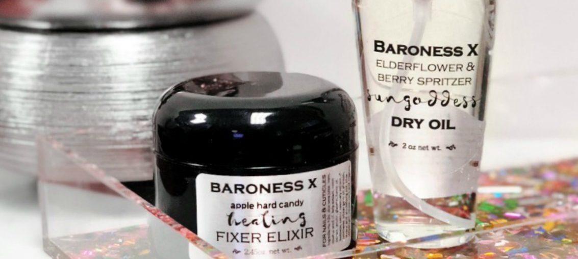 Baroness X Fixer Elixir, Sun Goddess Dry Oil & Break-Away Ice Crystal Wax Melt
