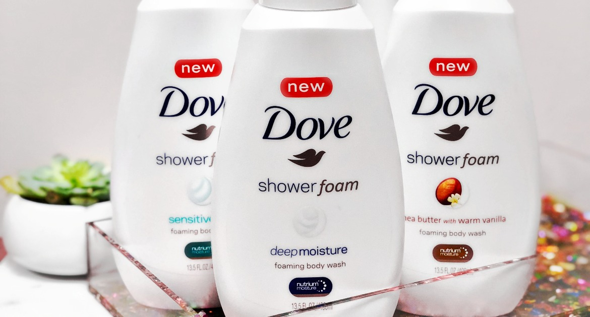 Make Mornings Better With Dove Shower Foam Body Wash