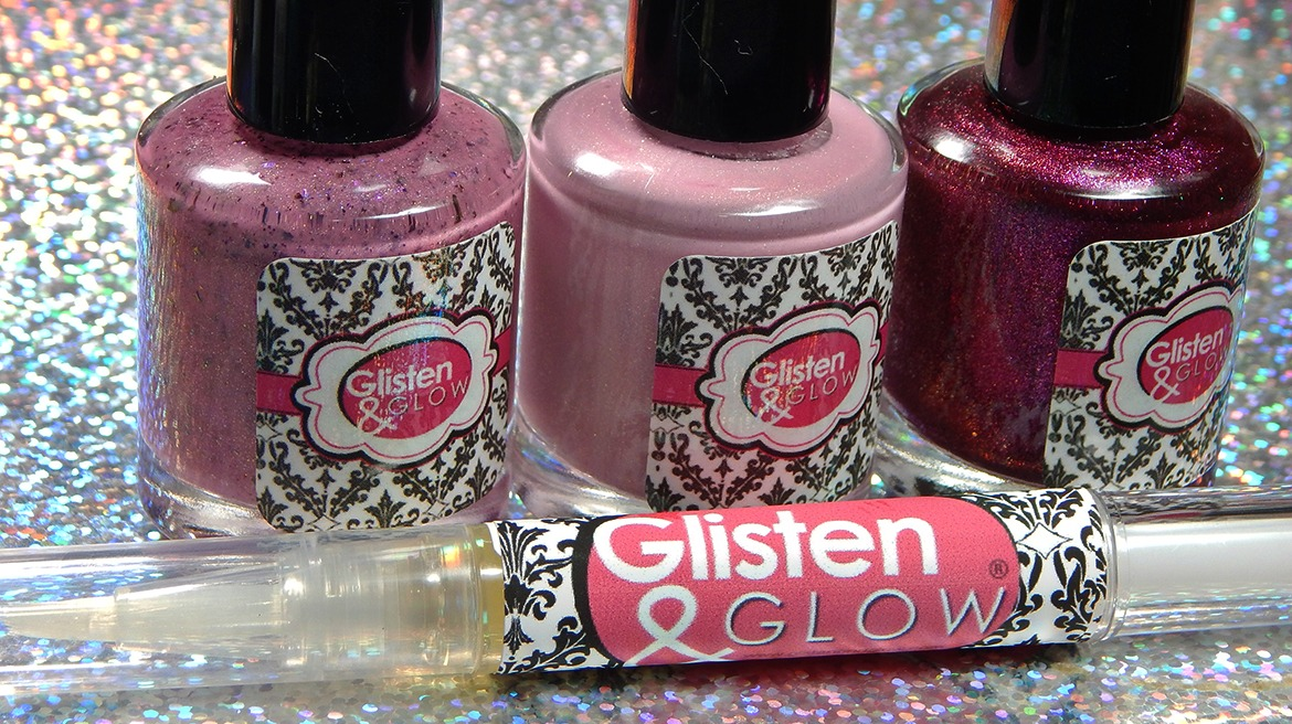 Glisten & Glow Breast Cancer Awareness Charity Polishes 2018