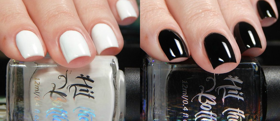 Hit The Bottle Black & White Undies Peel Off Base Coats