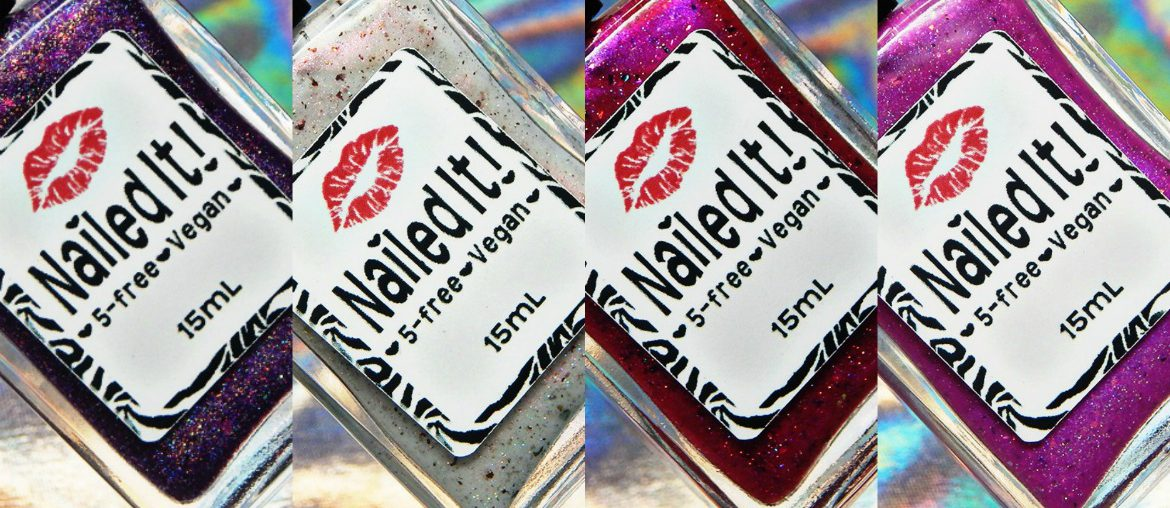 Nailed It Nail Polish | Flakie Breaky Heart Trio & Pink Agate